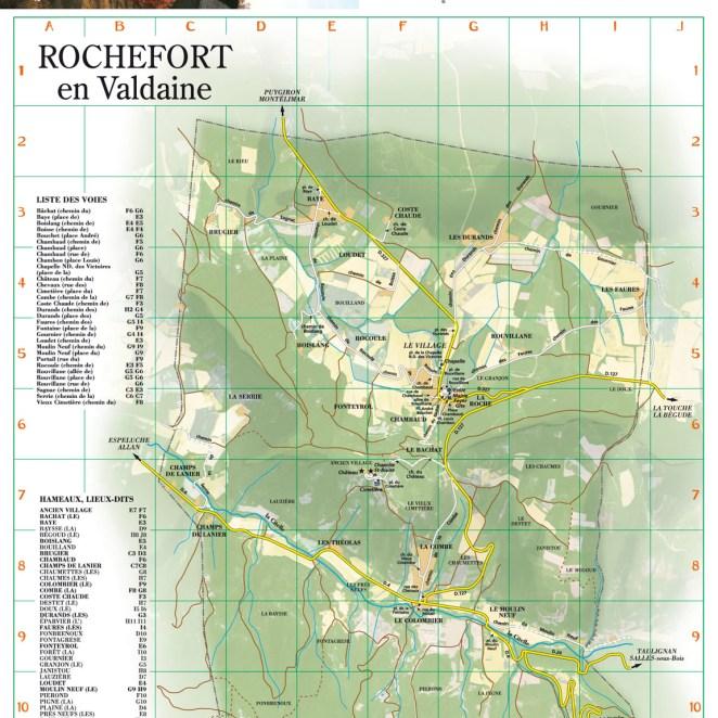 Plan Rochefort-en-Valdaine (26) - dépliant