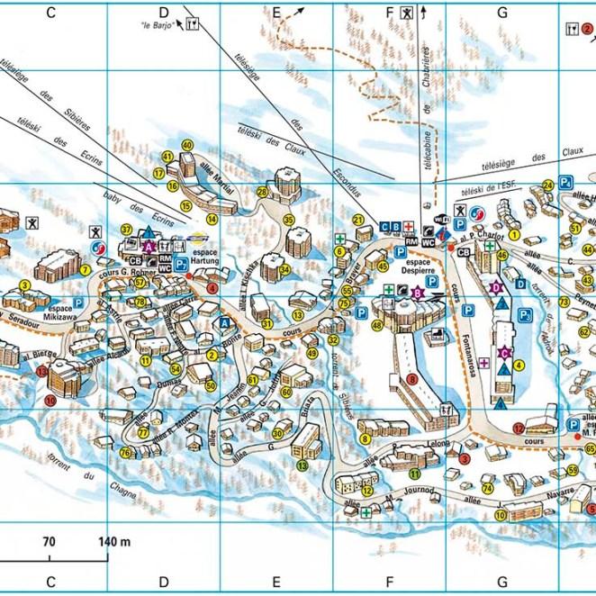 plan station Vars les Claux (05)