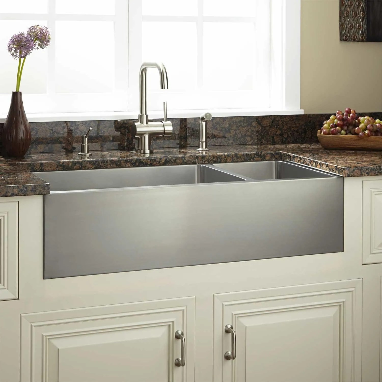 Large Stainless Steel Farmhouse Sink Signature Hardware