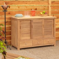 "48"" Touraine Teak Sideboard - Home Accents"