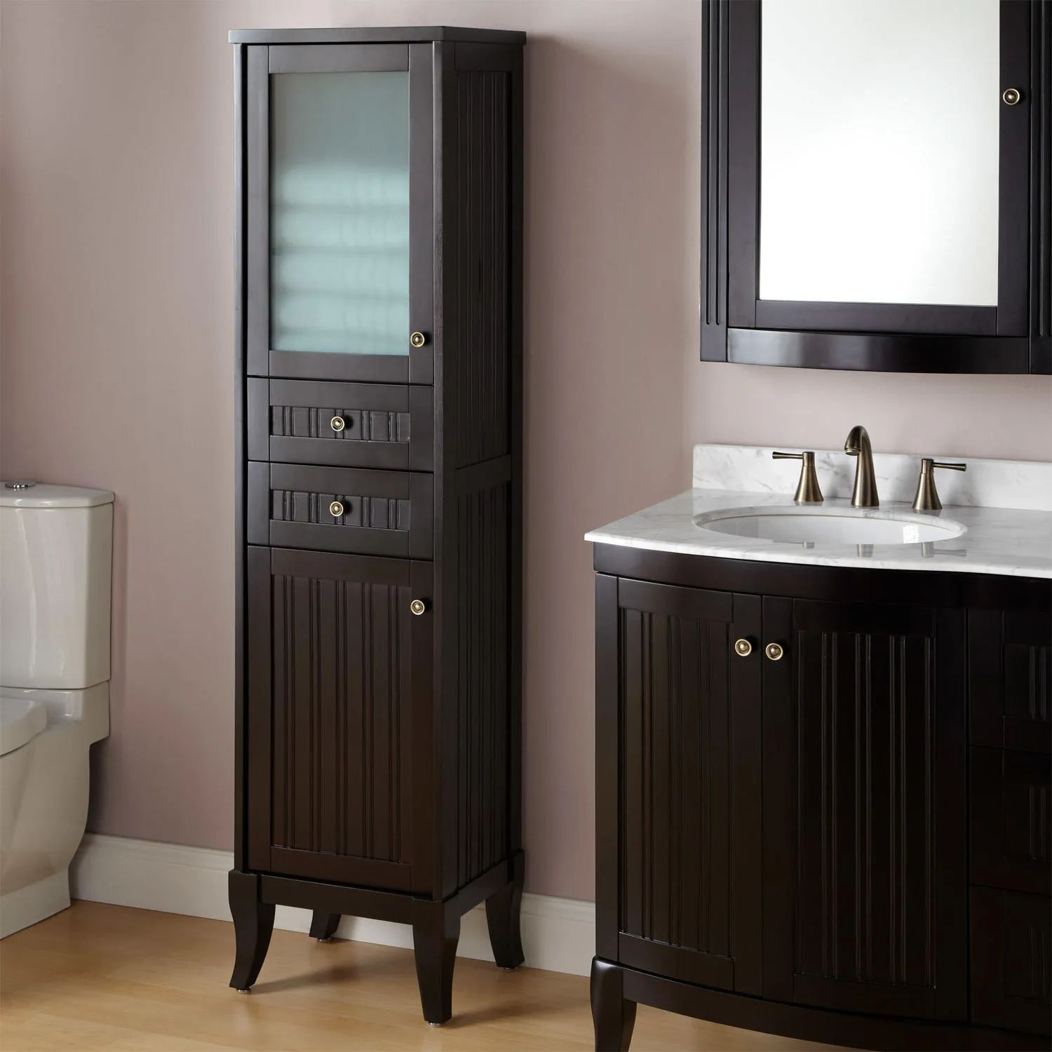 Palmetto bathroom linen storage cabinet