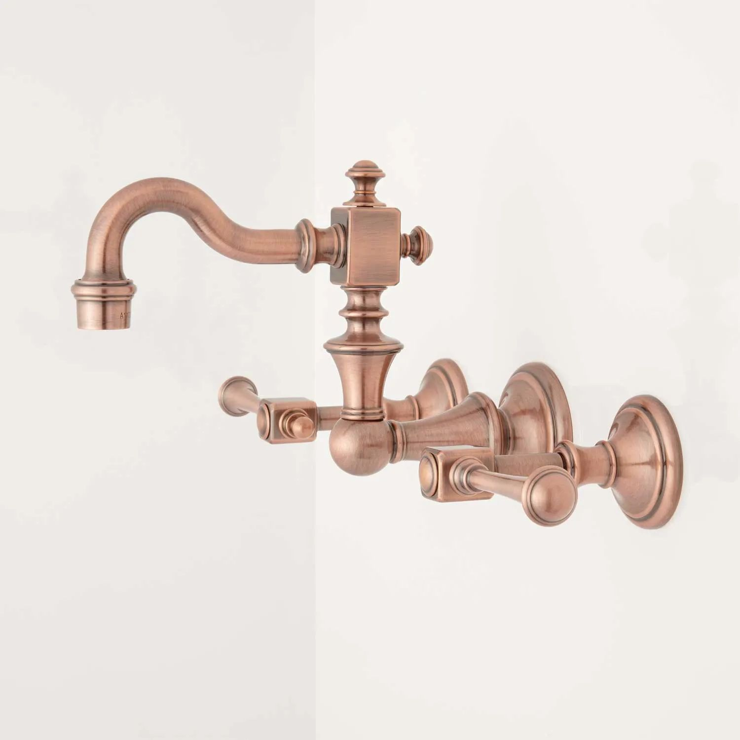 Signature hardware vintage wall mount bathroom faucet with