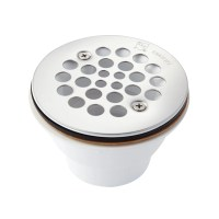 "3 1/2"" Round PVC Two Piece Shower Drain with 2"" Drain ..."
