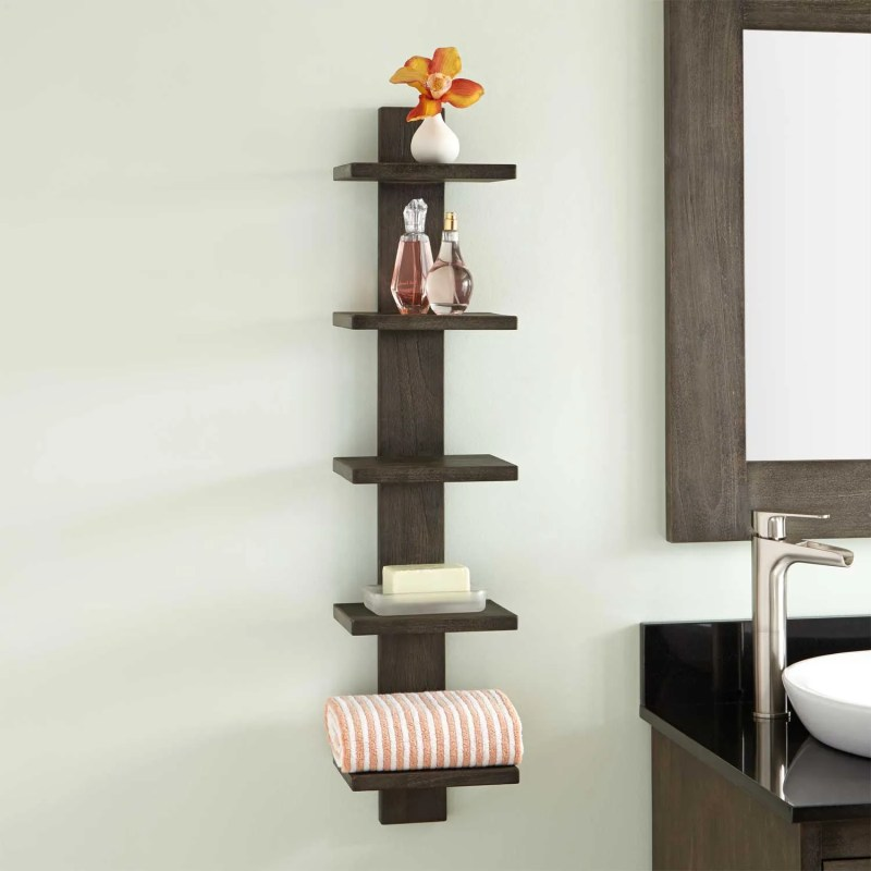 Large Of Contemporary Bathroom Shelving