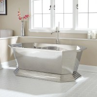 """66"""" Selby Polished Stainless Steel Tub - Bathroom"""