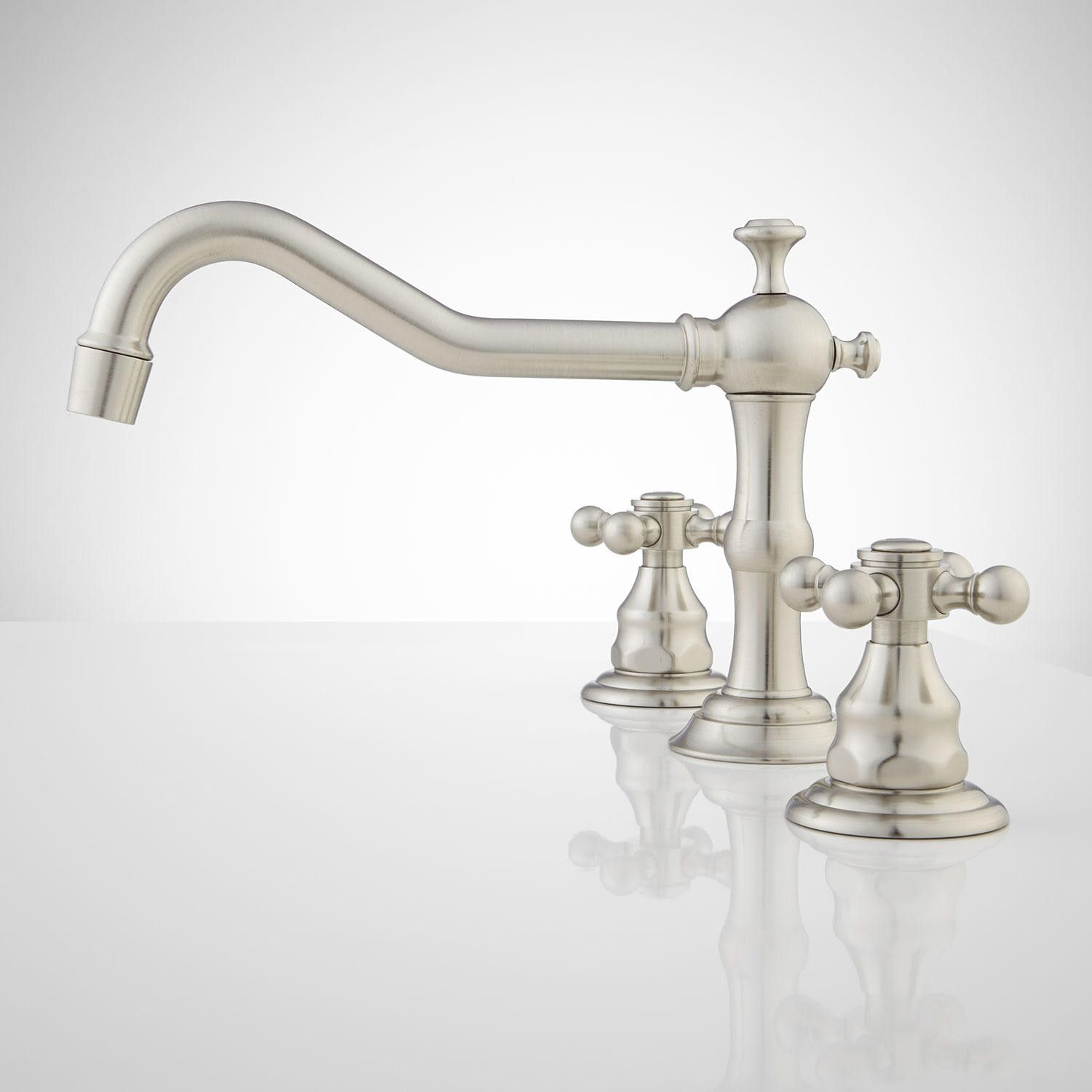 widespread bathroom faucet brushed nickel
