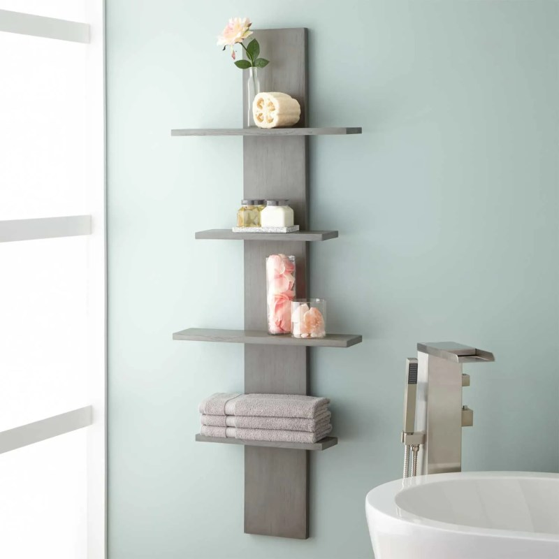 Large Of Wood Bathroom Shelves