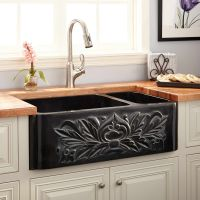 "33"" Ivy 70/30 Offset Double-Bowl Polished Granite ..."