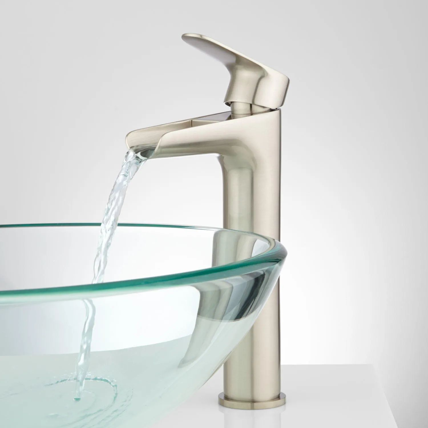 Pagosa waterfall single hole vessel faucet