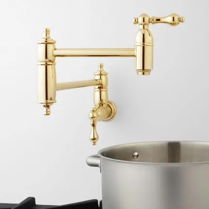 Wall Mount Kitchen Faucets Signature Hardware - wall mount kitchen faucet