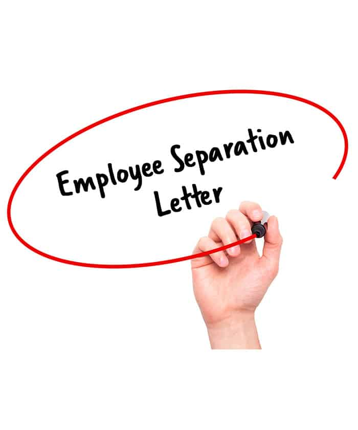 Employee Separation Letter - Signature Staff