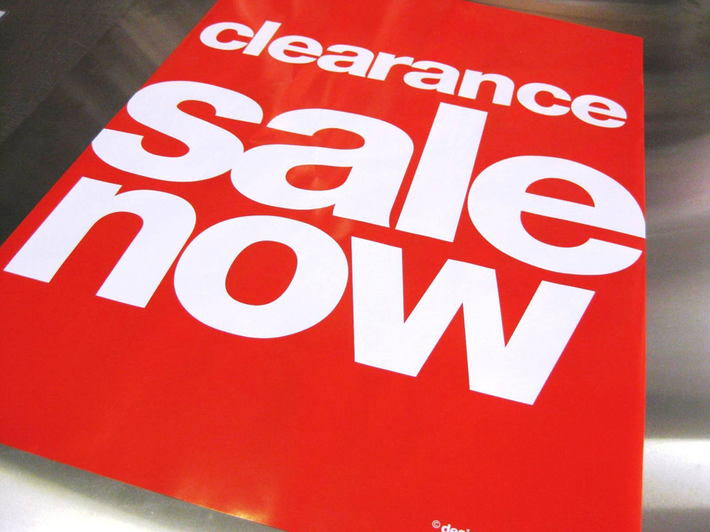 Point of Sale items, Pavement sign, posters - Sign  Print Ripley - sale signs