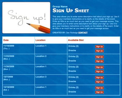 online sign in sheet - zaxa