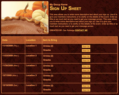 Thanksgiving Potluck Signup Sheet - FREE DOWNLOAD