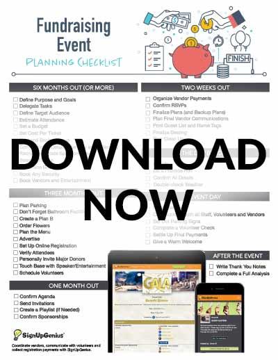 Fundraising Event Planning Checklist