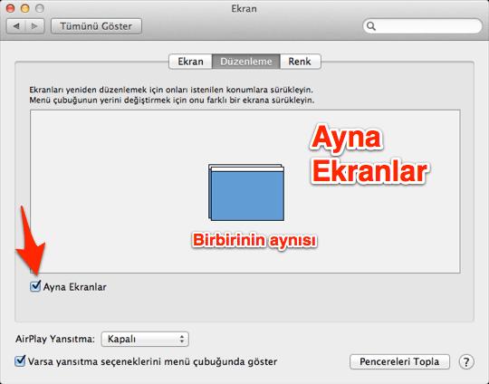 sihirli elma mac projektor 11a Projektöre Mac nasıl bağlanır?