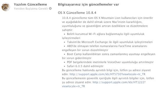 sihirli elma os x 10 8 4 guncelleme 1a OS X 10.8.4 yayınlandı: iMessage, WiFi, Exchange ve Safari güncellemeleri ile