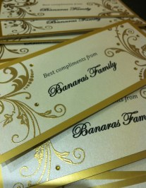 Gold embossed tags