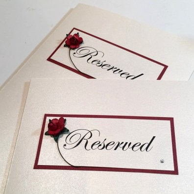 Red rose reserved cards