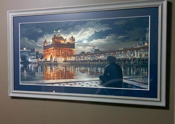 Golden Temple at night, Silver Frame, Harmandir Sahib, Harimandir Sahib, Darbar Sahib, Bhagat Singh, Sikhi Art of Punjab, Amritsar,