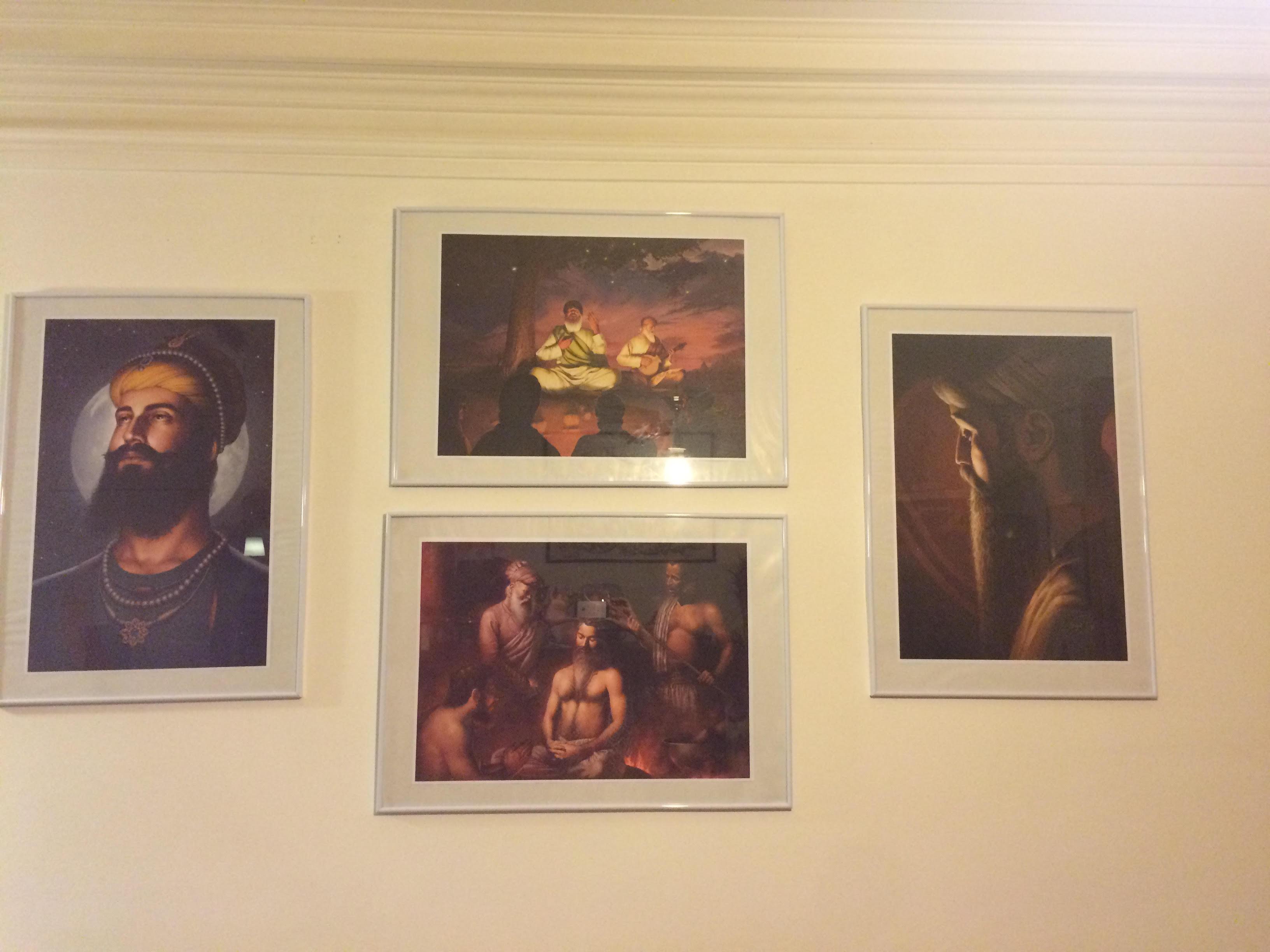 Guru Nanak Dev ji, Guru Ramdas ji, Guru Arjun Dev ji, Guru Gobind Singh ji, Bhagat Singh, Sikhi Art, Paintings, Punjab, Prints