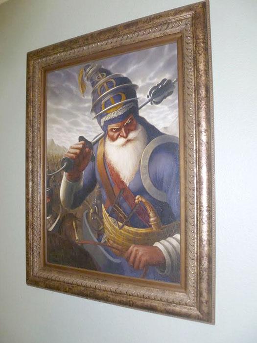 Akali Phula Singh ji, Nihang General of Punjab, Bhagat Singh Bedi Artist, Sikhi Art, Collection of Pav Athwal