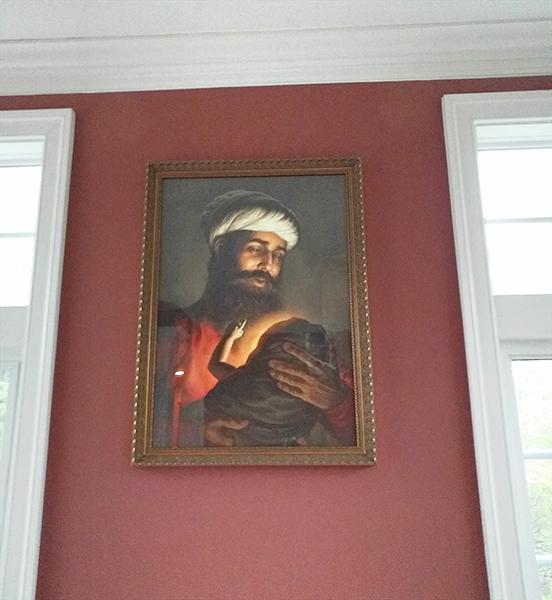 Pita Mehta Kalu ji, Father of Guru Nanak Dev ji - First Guru of the Sikhs, Sikh Painting by Bhagat Singh - Sikhi Art, Collection of Gunvir Baveja