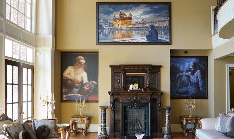 Golden Temple - Guru Gobind Singh ji - Bhai Kanhaiya ji - Sikh Canvas Fine Art Prints - Bhagat Singh Sikhi Art - Gurcharn Dang Collection