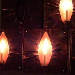 Vackra ljusbärare i kopparplåt. Smide och design av Silas Engström