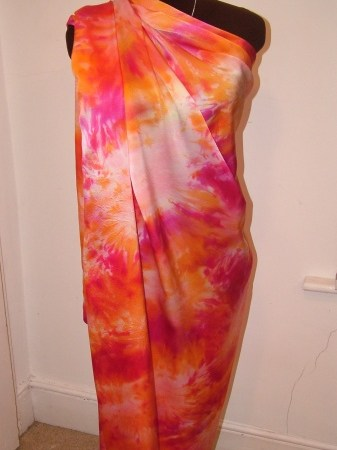 handpainted silk satin designer yardage
