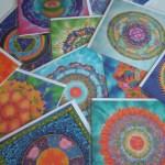 mandala greeting cards fine art fionastolze silkandart