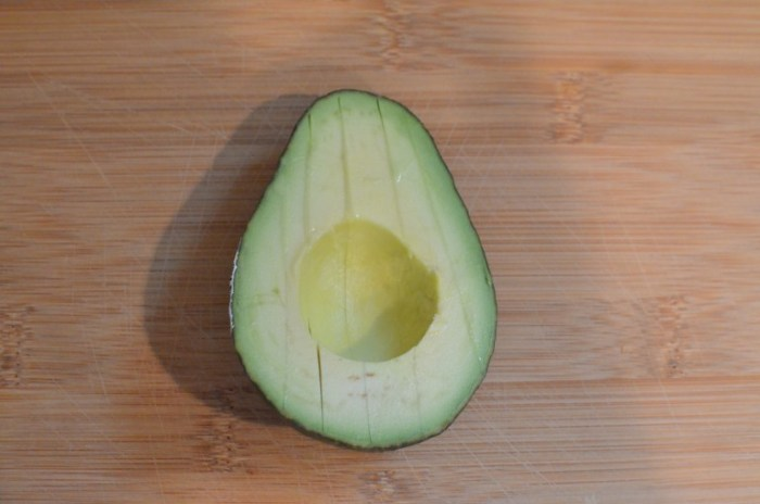 scored avocado