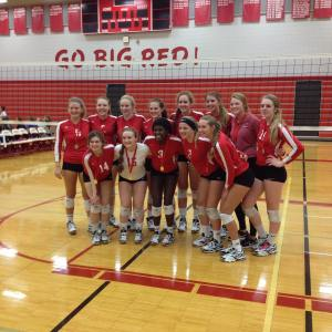 And these girls just took first in their home volleyballtourneyhellip