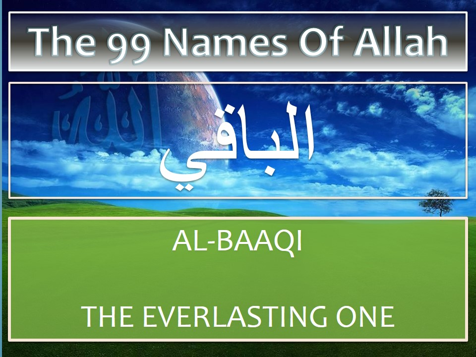 Treatment using name Al-Baaqi