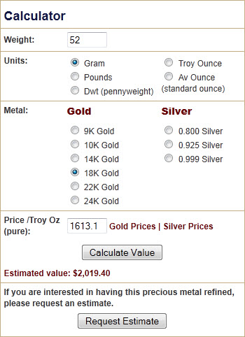 How Much Can I Sell my 18 Karat Gold Bracelet for? - Precious Metal