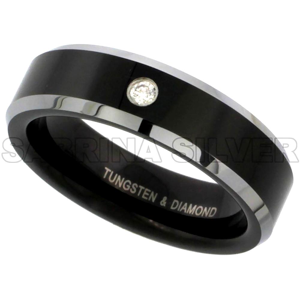 silvercity silver diamond wedding rings Tungsten Diamond Bands Bands