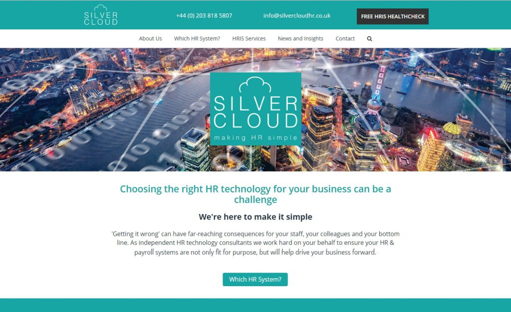 New website launched, featuring online HRIS selector tool