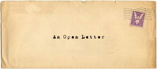 An Open Letter To Open Letters