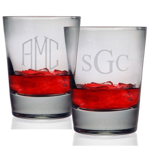 monogrammed old fashioned glasses