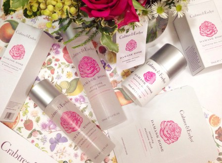 Crabtree & Evelyn Damask Rose skincare collection