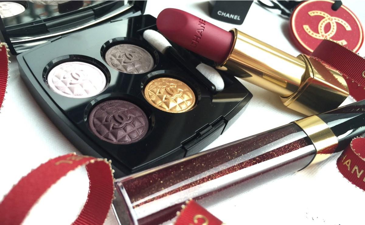 Chanel Holiday 2015 Signe Particulier Eyeshadow Quad, La Merveilleuse, Rouge Noir & Etincelle