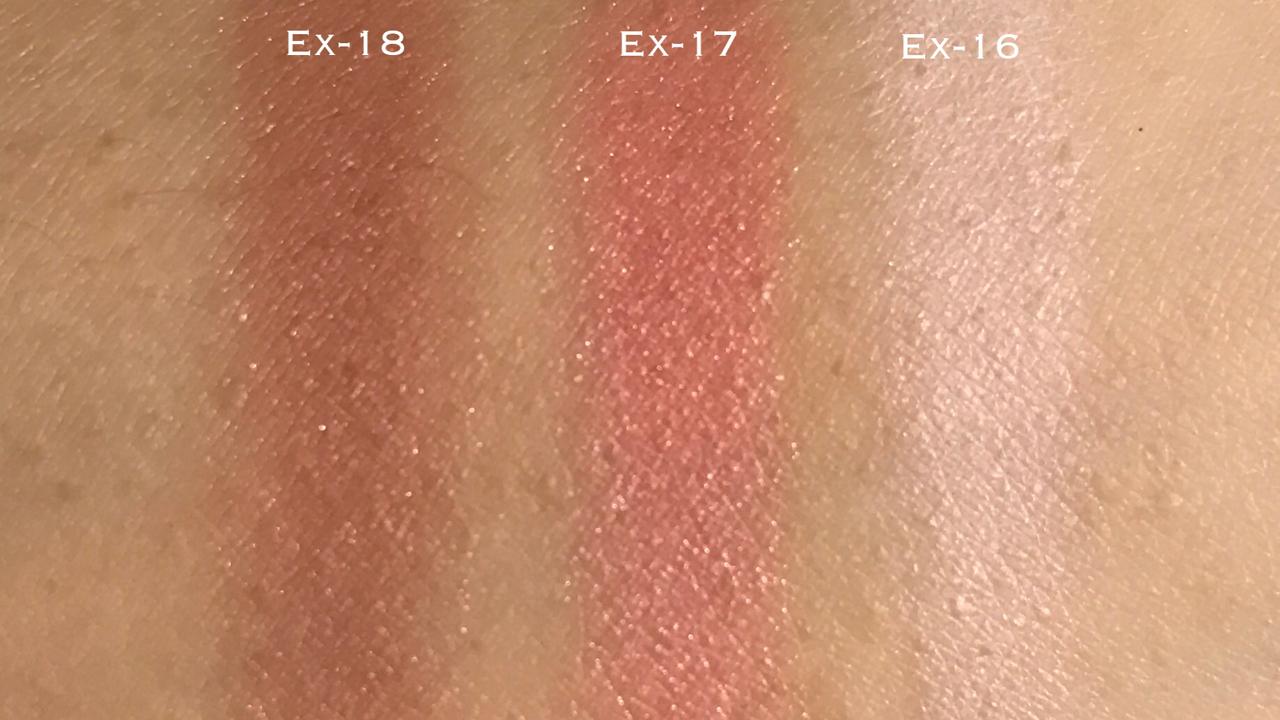 RMK Ingenious Powder Cheeks EX16-18 swatches for Summer 2017