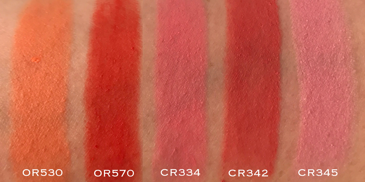 Shu Uemura Rouge Unlimited Supreme Matte - OR & CR swatches