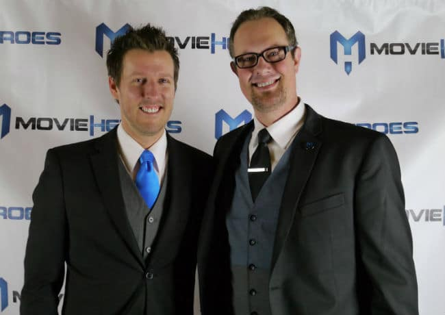 "Keith Walker (L) and Matt Sconce (R) developed a Netflix type subscription plan to help save their hometown's movie theater ""The Met Cinema."""