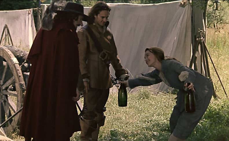 Roxanne sneaks into the army camp in Cyrano de Bergerac