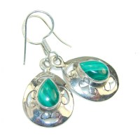 Green Passions Malachite Sterling Silver earrings - 5.10g ...
