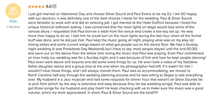 Silver Sound DJS - Philadelphia DJ PAUL EVANS\u0027S RESUME - 1-800-TALENTS - in n out resume