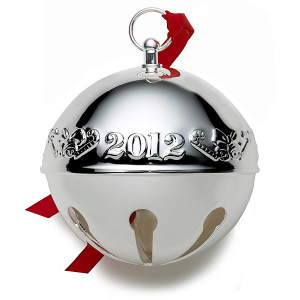 sterling silver bell ornament