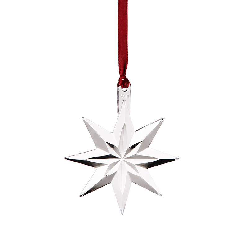 Orrefors Annual Ornament 2018 Star Silver Superstore