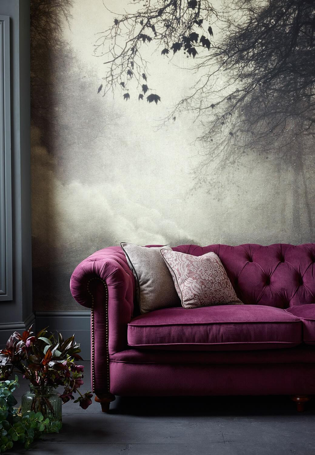 Glam Fall Background Wallpaper Trend Watch Jewel Tones In Interiors Silver Wall Art